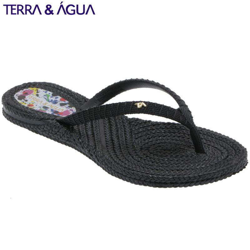 【TERRA&AGUA】リゾートビーチサンダル|ブラック