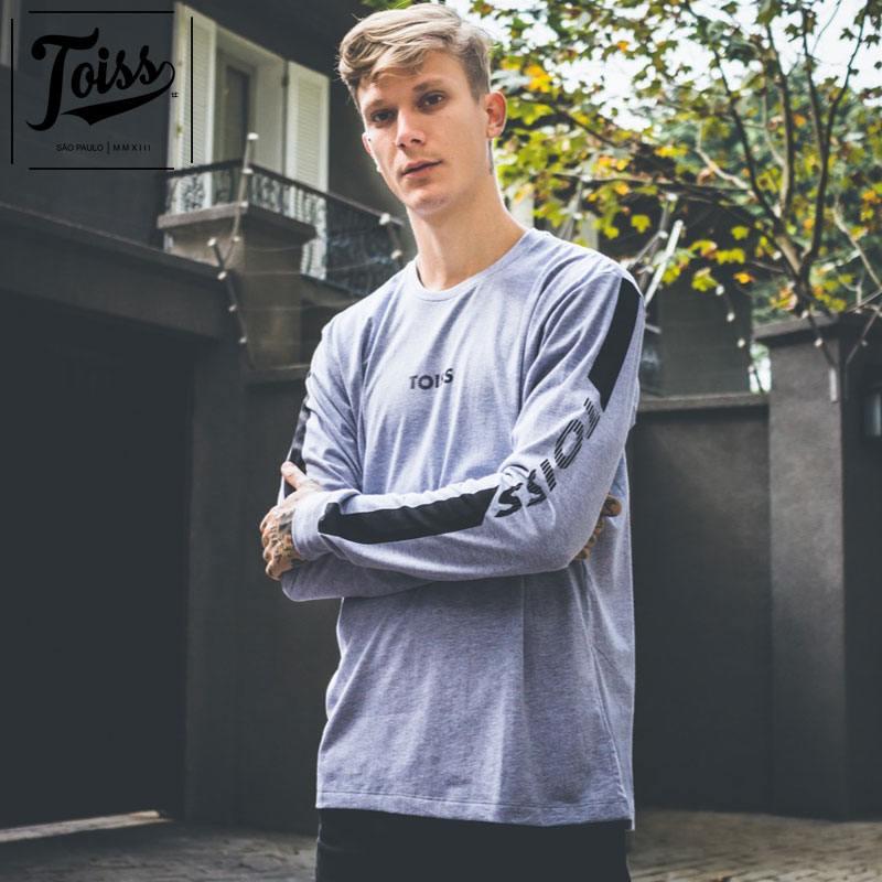 【TOISS】トイスロングTシャツアームラインデザイン | グレー
