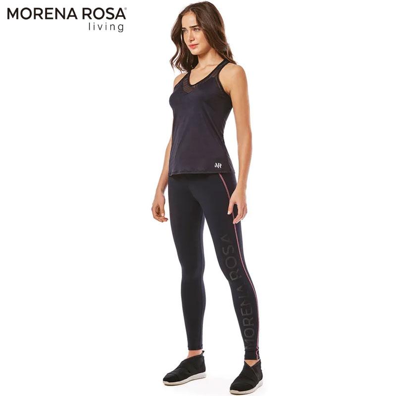 ■20%OFF■【Morena Rosa Living】 メッシュタンクトップ ブラック×ネオンピンク