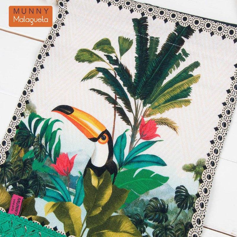 トゥッカーノ楽園デザインファブリックペナントインテリア雑貨 MUNNY by Malagueta