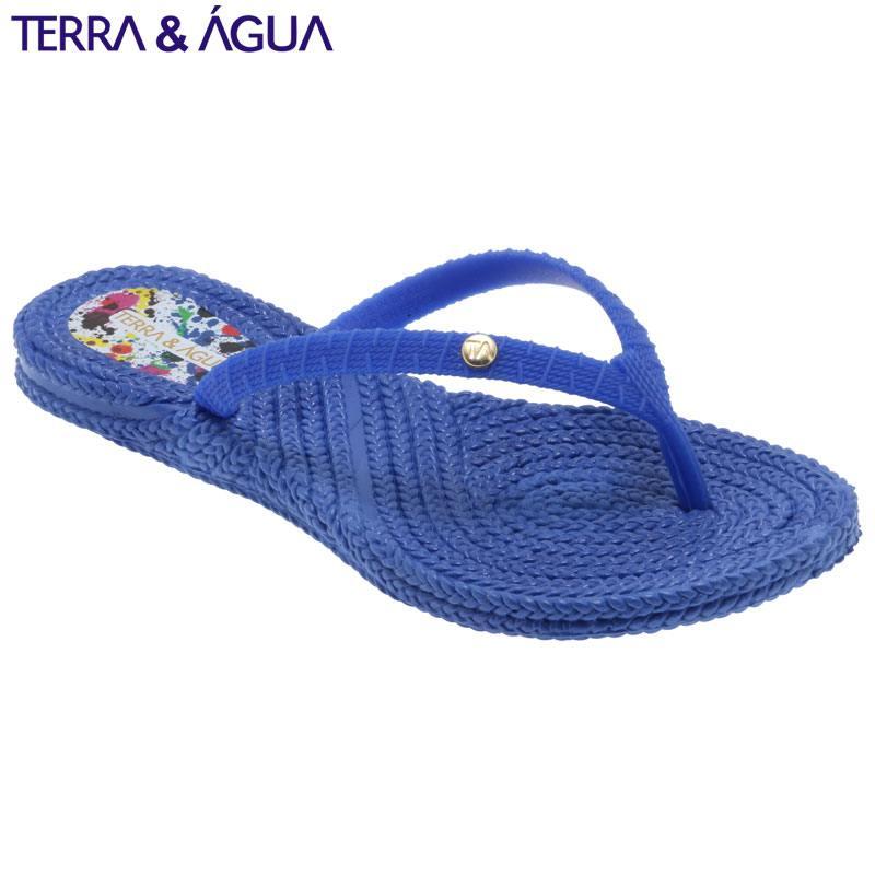 【TERRA&AGUA】リゾートビーチサンダル ブルー