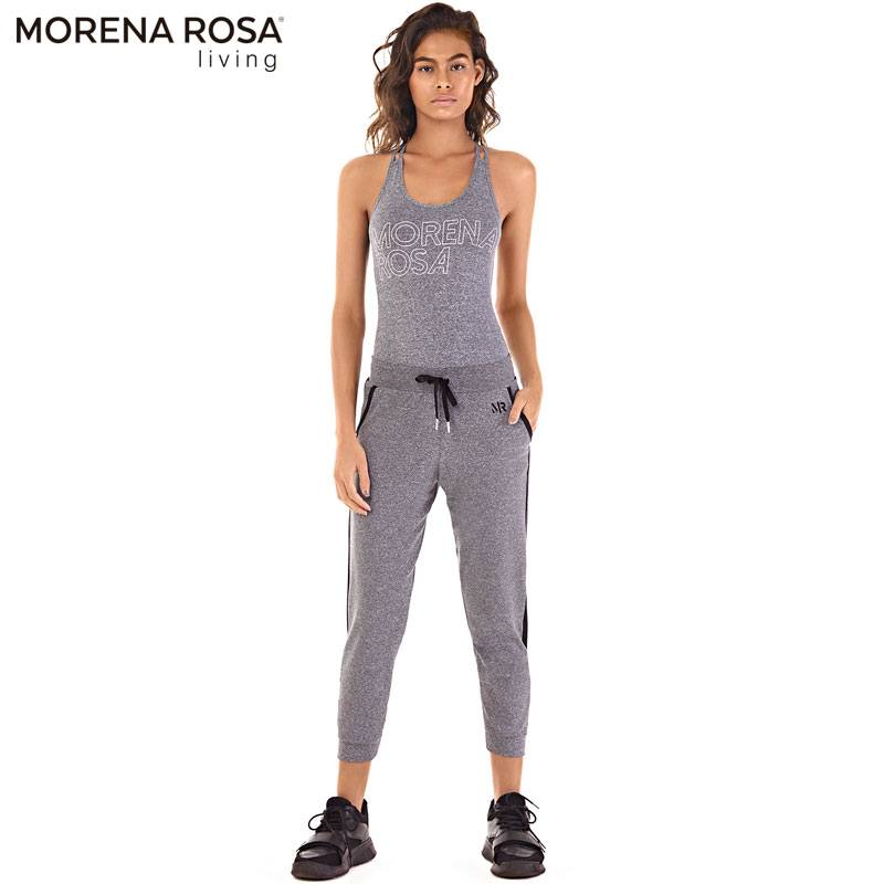 Morena Rosa Living ボディスーツ バックオープン クロスバック | グレー