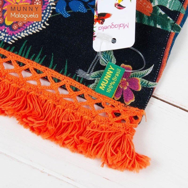 フラミンゴ楽園デザインファブリックペナントインテリア雑貨 MUNNY by Malagueta