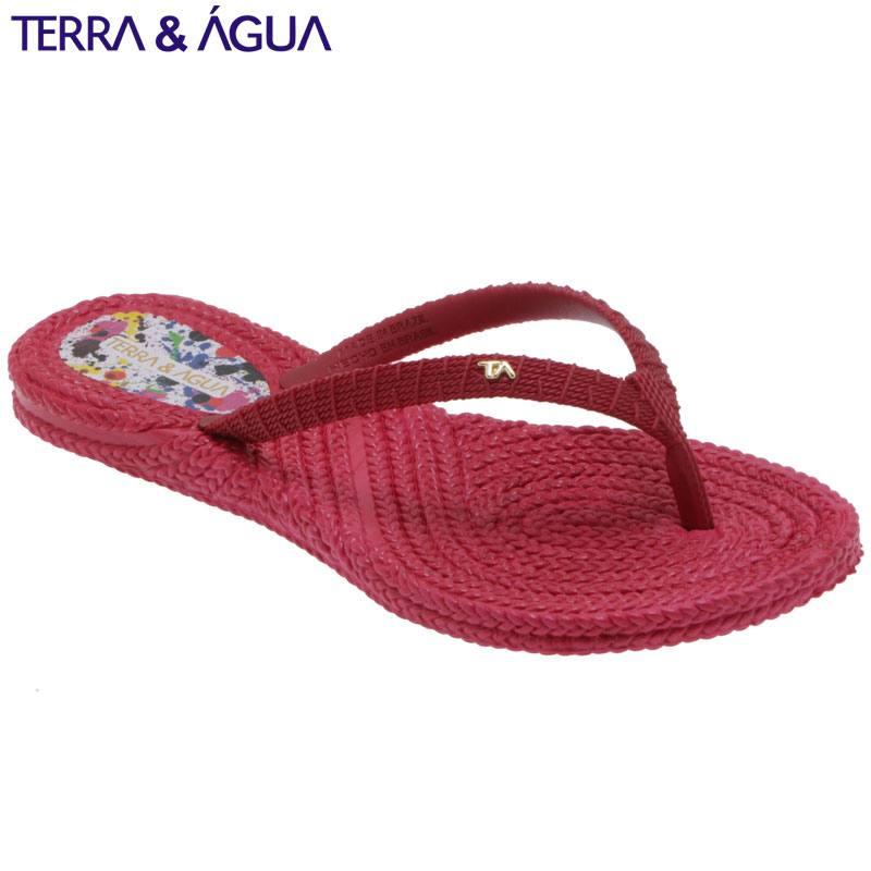 【TERRA&AGUA】リゾートビーチサンダル|ラズベリー