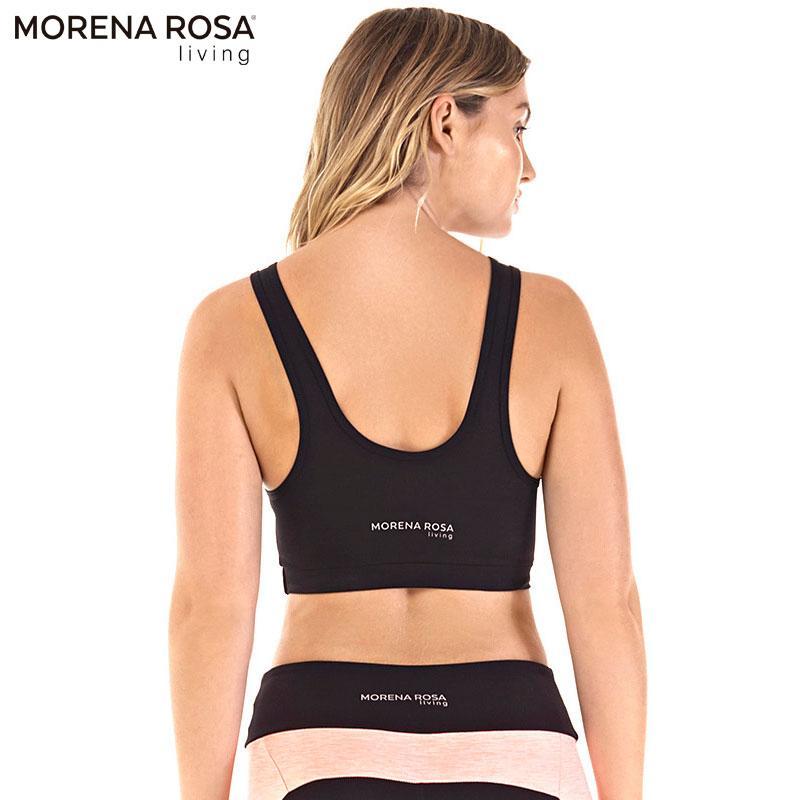 Morena Rosa Living クロップド トップス タンクトップ | ブラック×ピンク