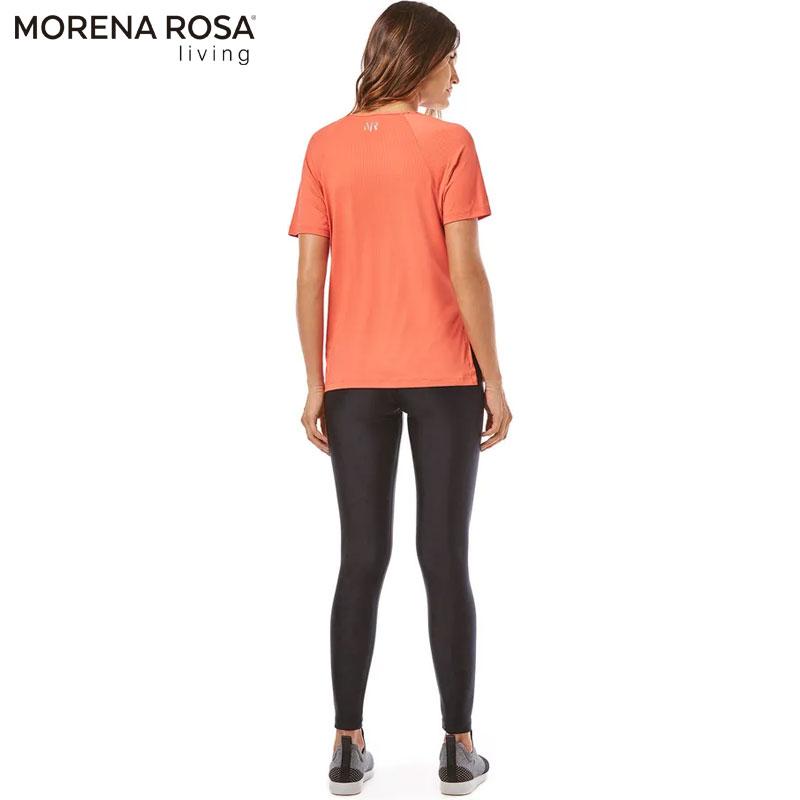 【Morena Rosa Living】 ワンカラー速乾リラックスTシャツ オレンジ