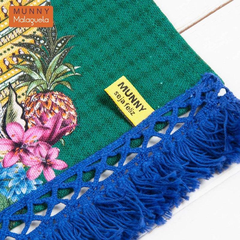 ブラジル国旗&楽園デザインファブリックペナントインテリア雑貨 MUNNY by Malagueta ブルーマルチ