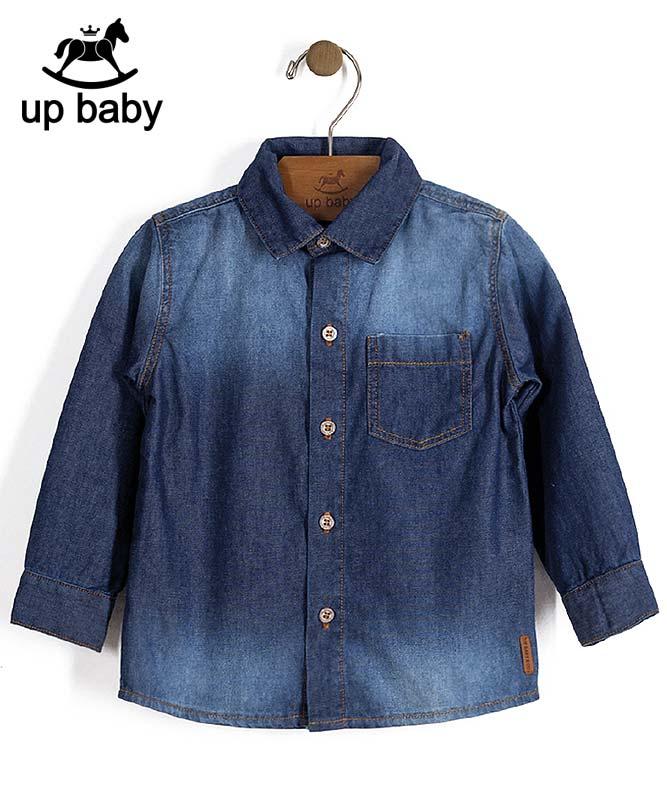 ■50%OFF■【UP BABY】男の子長袖デニムシャツ【おしゃれ・重ね着】インディゴ