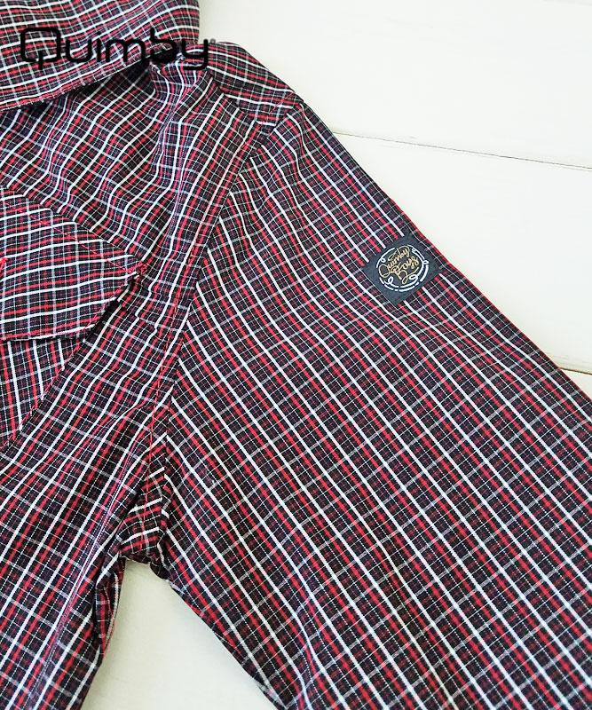 ■50%OFF■【QUIMBY】男の子長袖チェックシャツ【正統派・お出かけ着】レッド