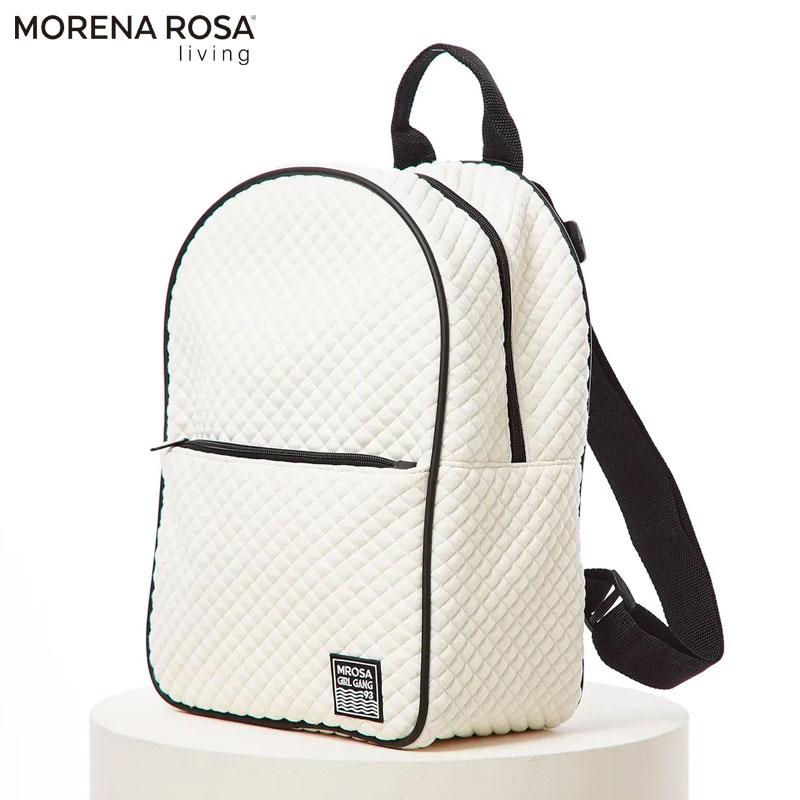 【Morena Rosa Living】 キルトリュックサックバッグ ホワイト