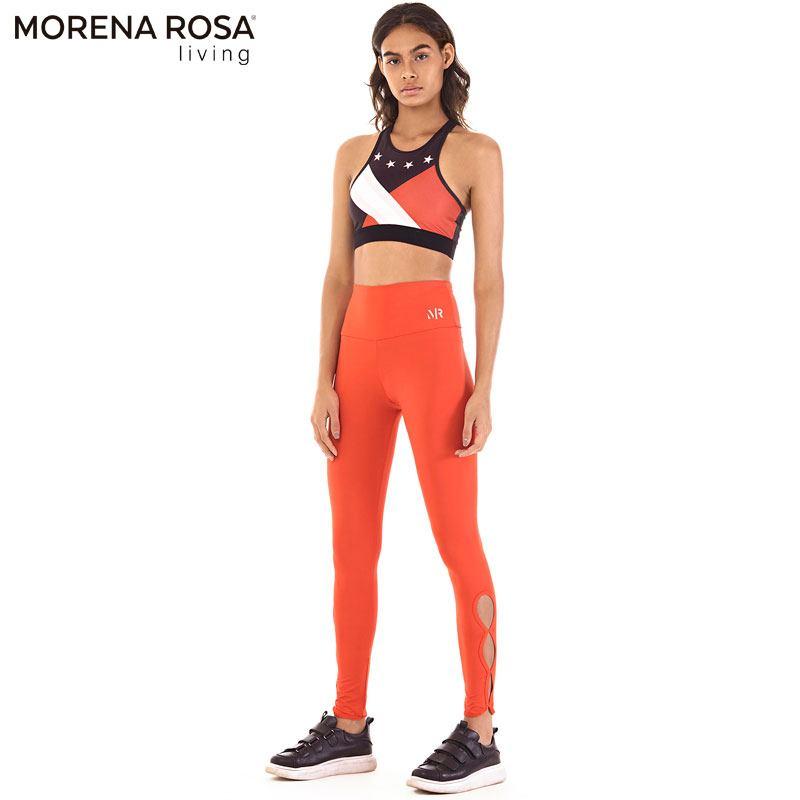 Morena Rosa Living レギンス サイドオープン トレーニングタイツ ハイライズ | レッド