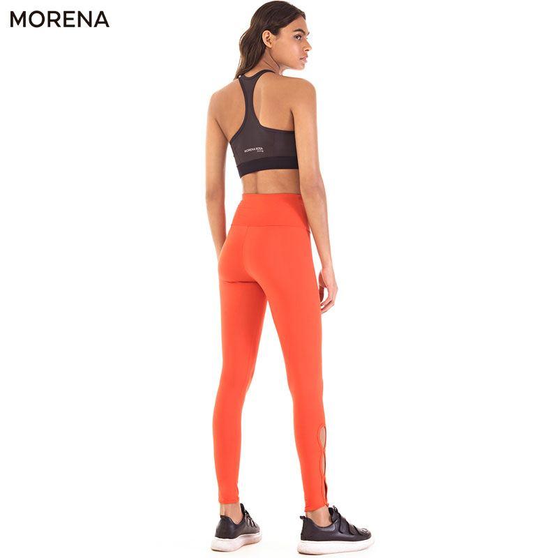 ■20%OFF■Morena Rosa Living レギンス サイドオープン トレーニングタイツ ハイライズ | レッド
