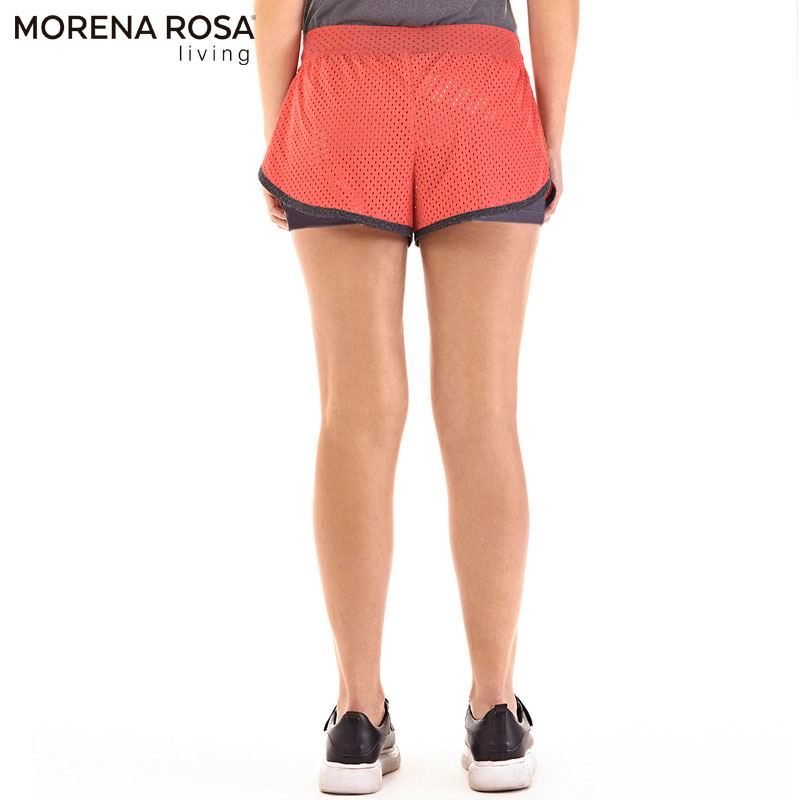 Morena Rosa Living ランニングショートパンツ メッシュ インナースパッツ付き | レッド