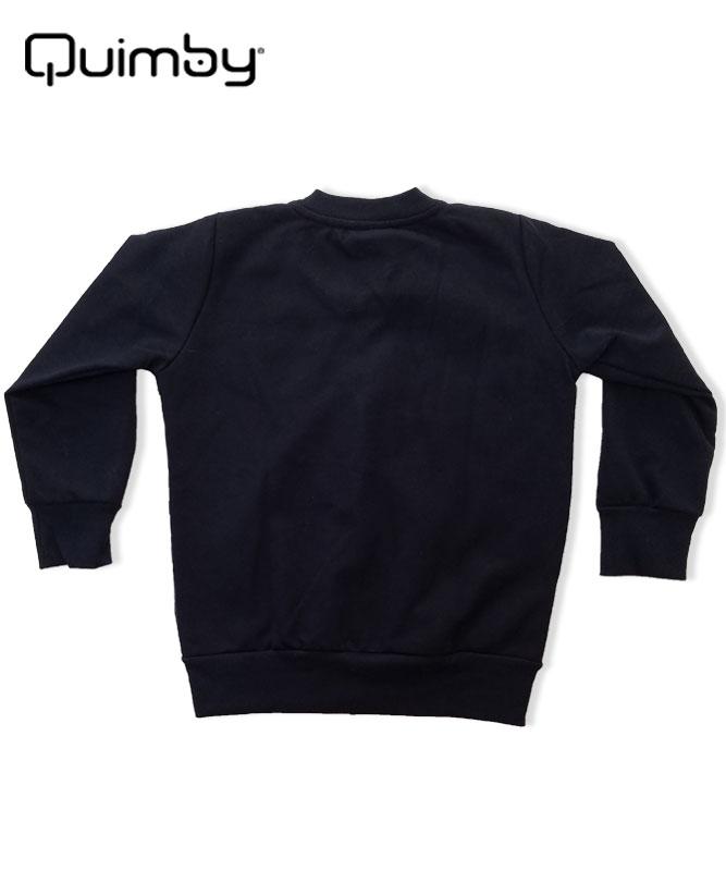 ■30%OFF■【QUIMBY】女の子ジップアップジャケット【裏ボア・バタフライ】ブラック