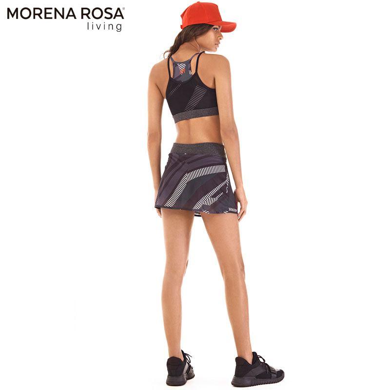 Morena Rosa Living クロップド トップス ダブルレイヤータンクトップ    ブラック