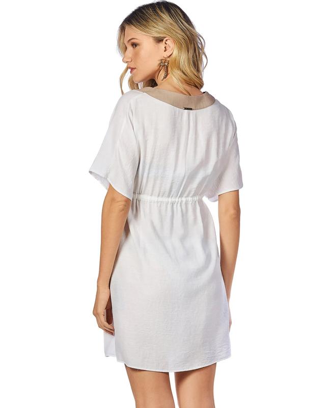 【Morena Rosa】バイカラーフルオープンタイプチュニックドレス