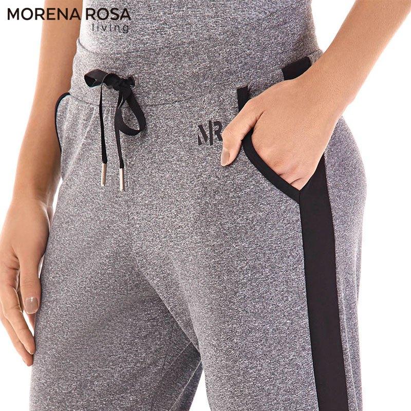 ■20%OFF■Morena Rosa Living サイドラインジョガーパンツ スウェット | ダークグレー