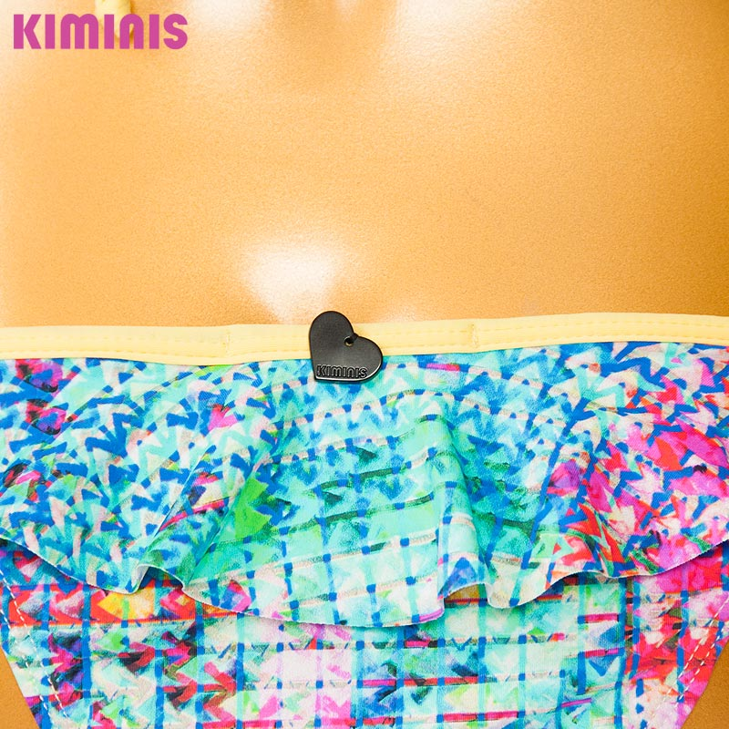 ■30%OFF■【KIMINIS】キミニス フリルが可愛いモザイクトライアングルビキニ/水着