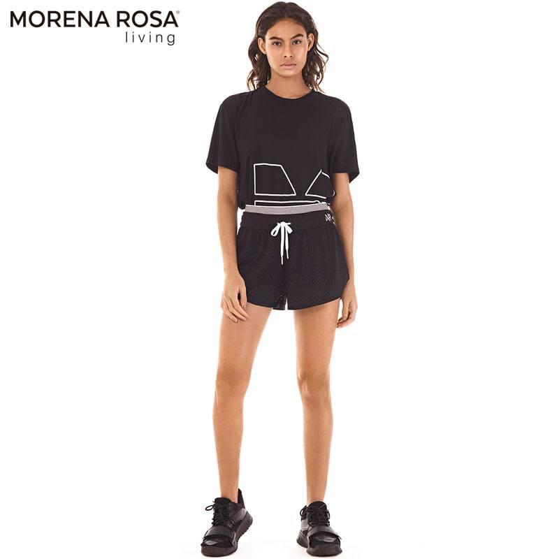 Morena Rosa Living ランニングショートパンツ メッシュ インナースパッツ付き | ブラック