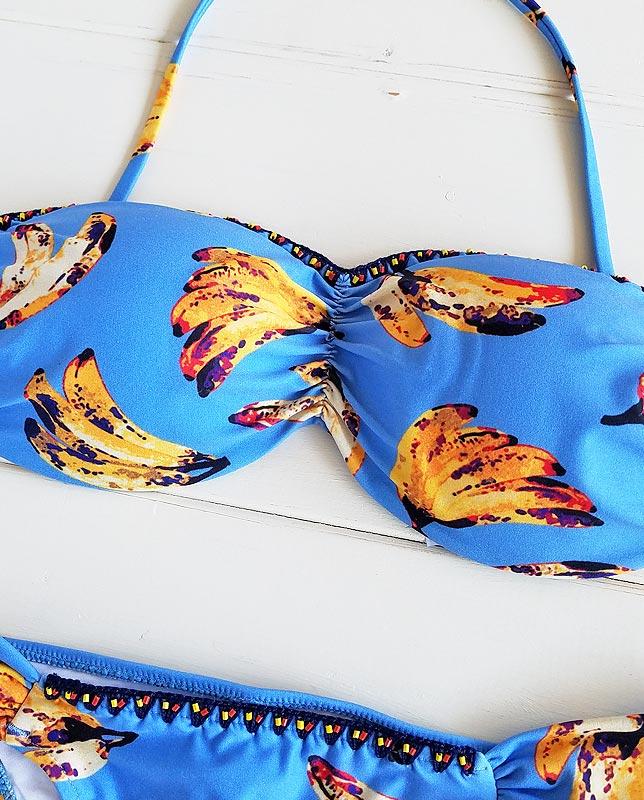 【Morena Rosa】クロシェアートバナナ柄バンドゥ水着