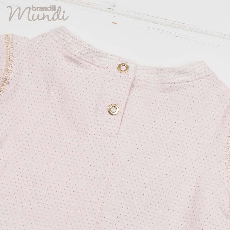 ■30%OFF■【BRANDILI MUNDI】女の子ベビー服 リトルプリンセス 上下セット ベビーピンク×チャコール