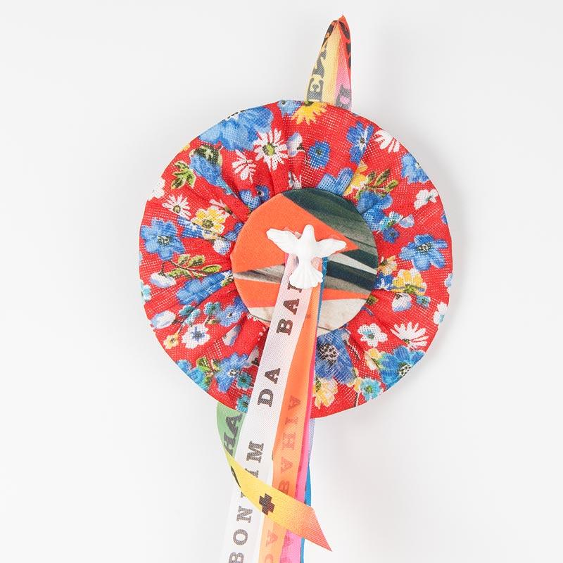 小花柄シータ エスピリトサント飾り Divino レッドマルチA