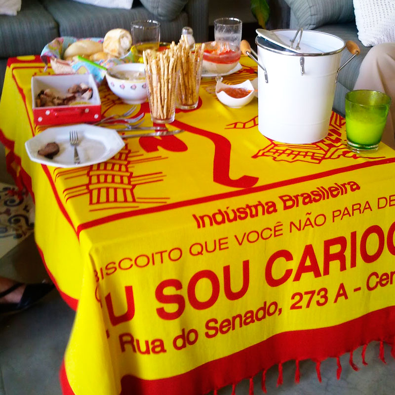 トゥッカーノ・リオデジャネイロビーチ柄【ブラジルカンガ】パレオ | ブルーマルチ