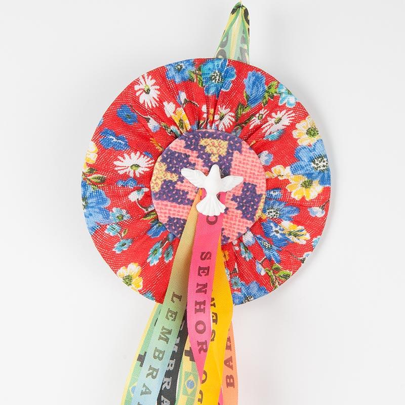 小花柄シータ エスピリトサント飾り Divino レッドマルチB