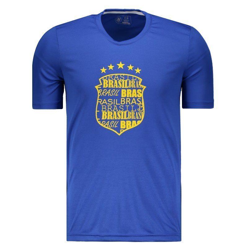 【BRASIL】CBFエンブレムデザインブラジルTシャツ | ブルー