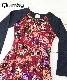■30% OFF■ 【QUIMBY】女の子長袖花柄ワンピース【おしゃれ・お出かけ着】ボルドー