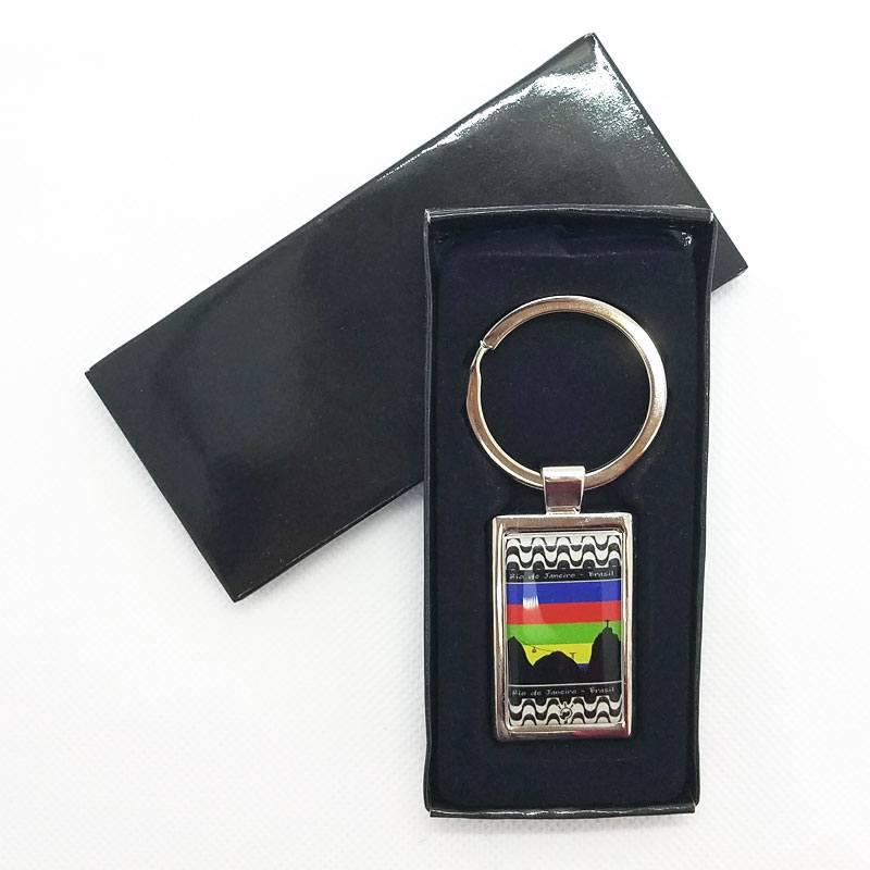 コパカバーナとリオの風景デザインキーホルダー【高品質】Brasil |箱入り