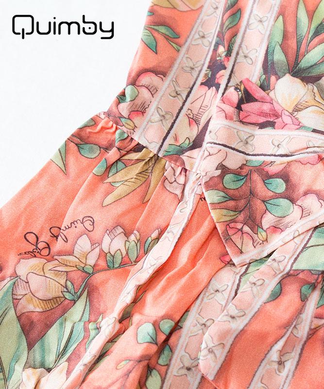 ■30% OFF■ 【QUIMBY】女の子ドレス【子供服・パーティー】お花柄クラシカル|コーラル