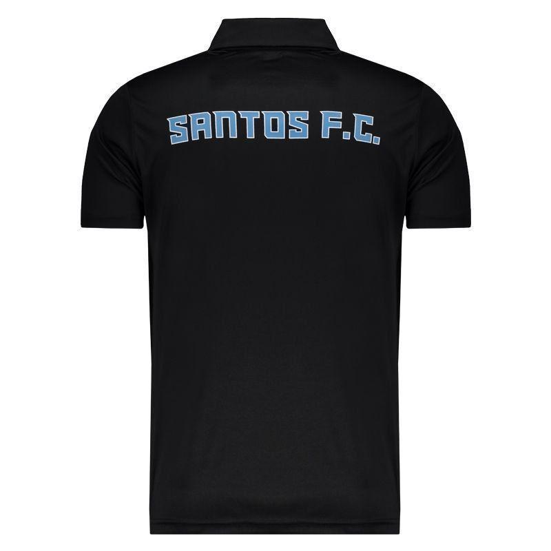 サントスFC公式ラインデザイン襟付きTシャツ【Kappa】エンブレム付き | ブラック