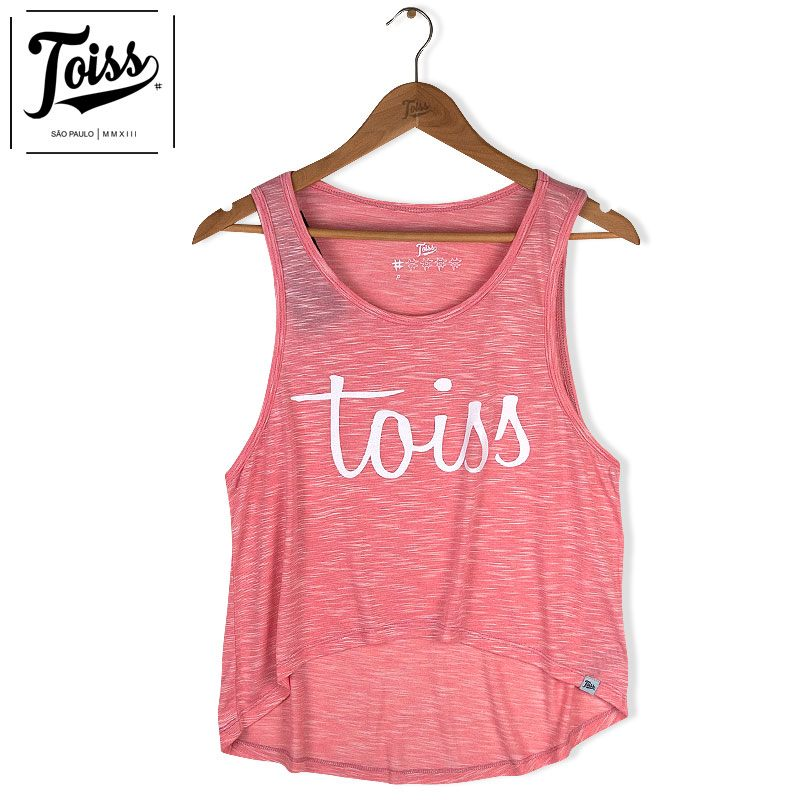 ■30%OFF■【toiss】トイス レディースロゴ タンクトップ ピンク
