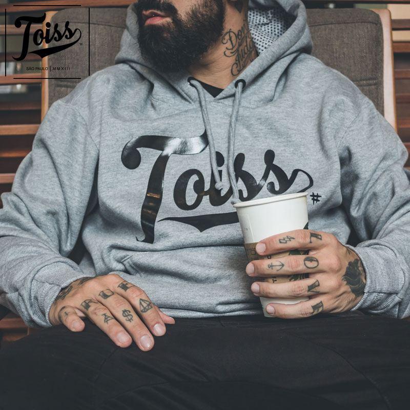 【TOISS】トイスロゴフード付きパーカー|グレー