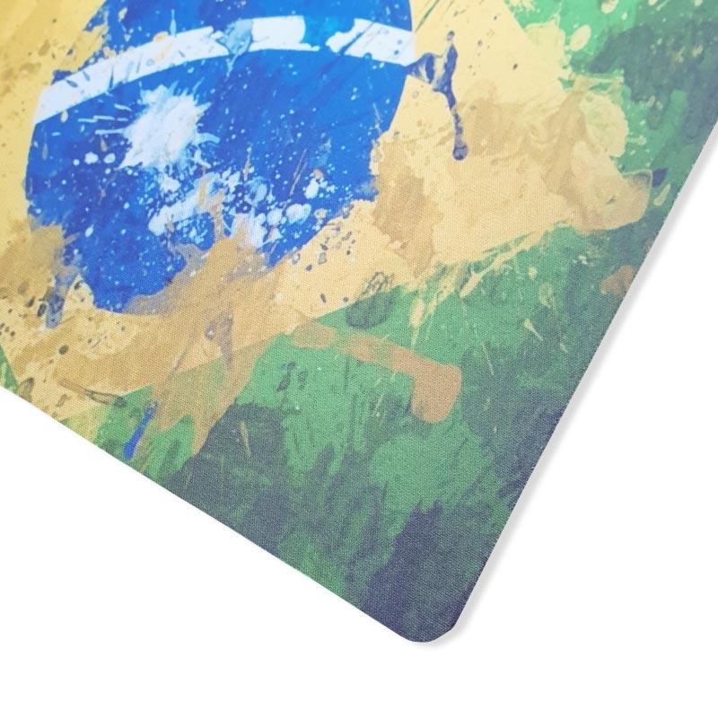 【マウスパッド】アートタッチデザインブラジル国旗柄 | ブラジルカラー