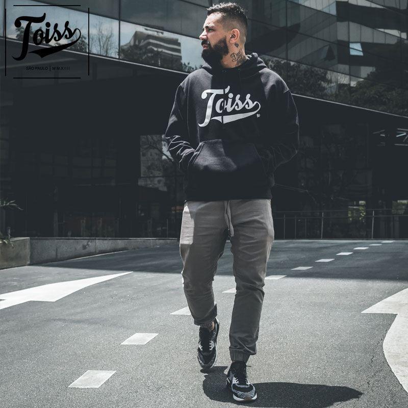 【TOISS】トイスロゴフード付きパーカー|ブラック