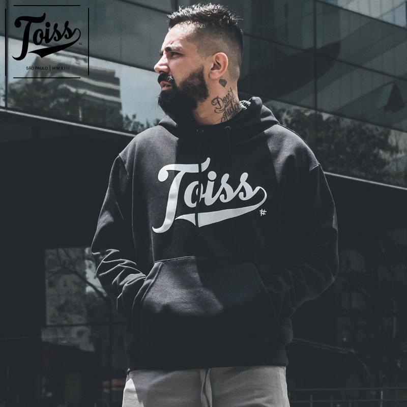 【TOISS】ネイマール愛用トイスロゴフード付きパーカー|ブラック