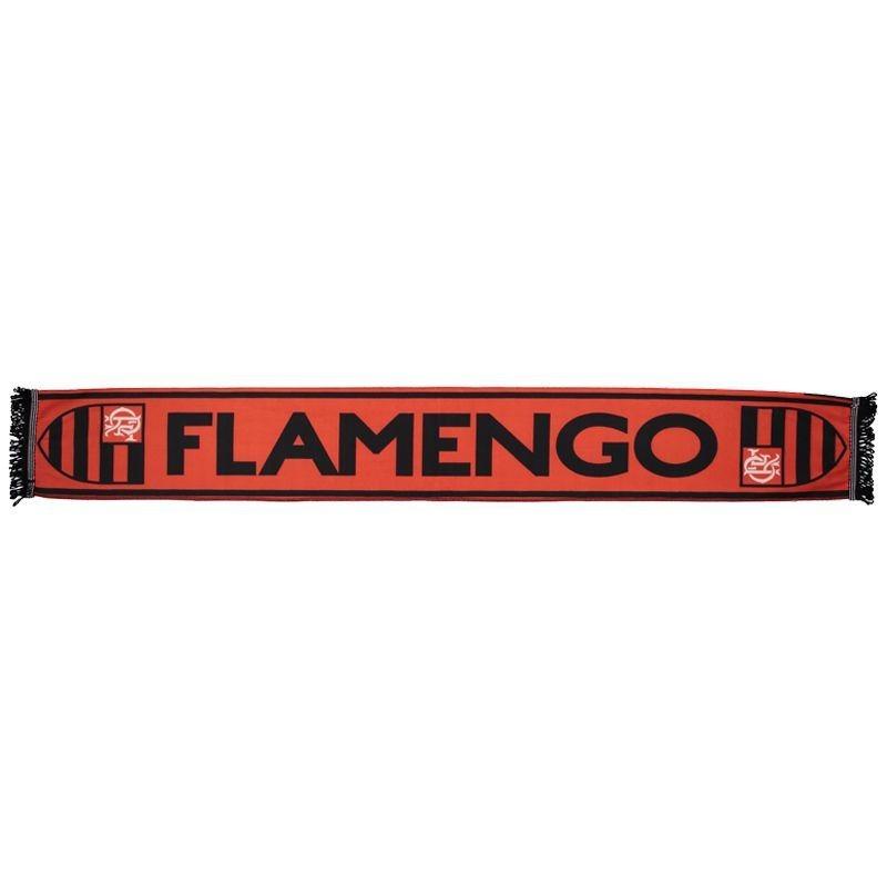 フラメンゴタオルマフラー【FLAMENGO】 レッド×ブラック