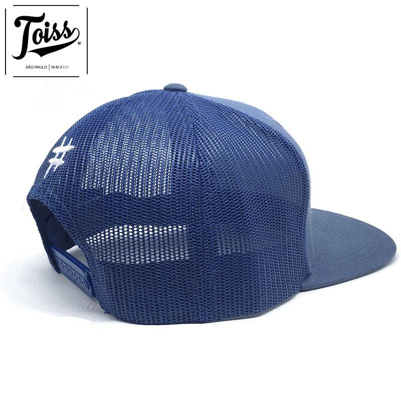 ネイマール着用【TOISS】トイスロゴスナップバックメッシュキャップ|【トイスキャップ】ブルー