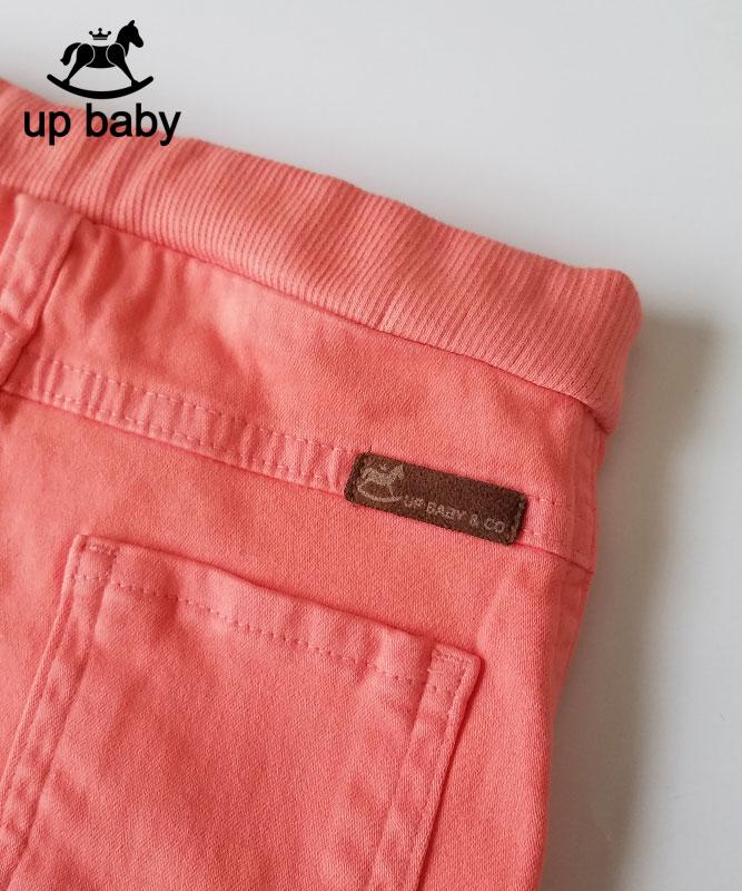 ■30% OFF■ 【UP BABY】女の子カラーデニム【デイリー・おしゃれ】コーラル