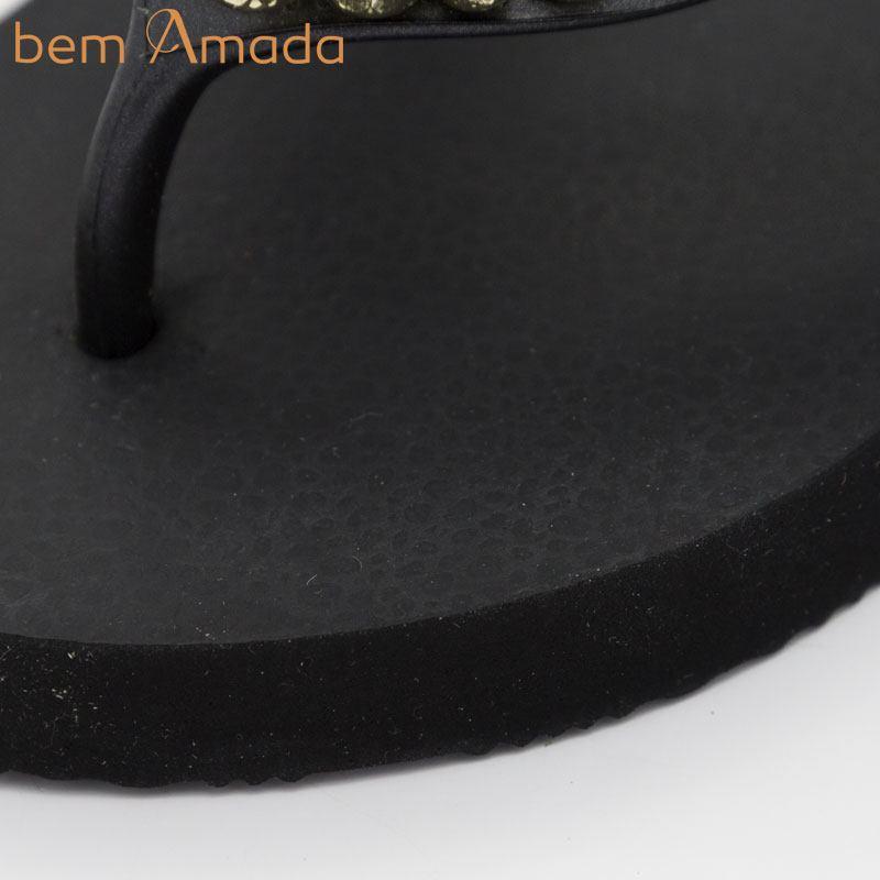 ■50%OFF■ビジュー付きビーチサンダル【bem Amada】ラグジュアリーLISA PRETO|ブラック