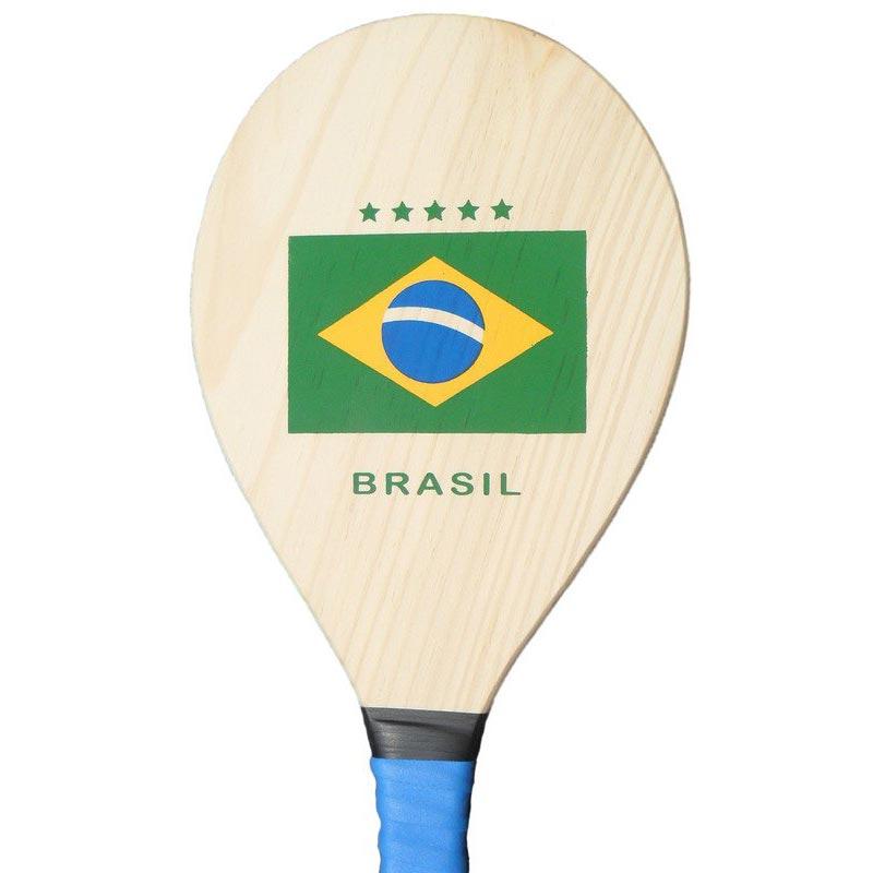 【フレスコボール】BRASIL国旗柄ラケット&ボールセット【frescobol】 | ブルー