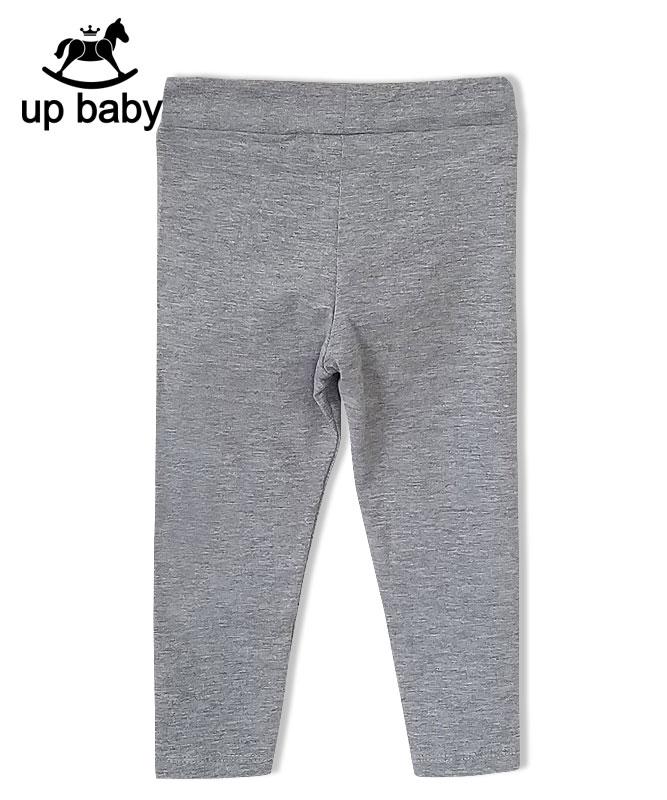 ■30% OFF■ 【UP BABY】女の子レギンス【9分丈・デイリー】ライトグレー