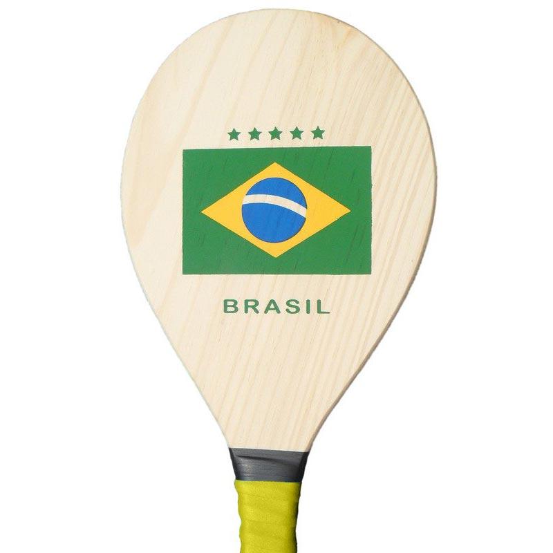【フレスコボール】BRASIL国旗柄ラケット&ボールセット【frescobol】 | イエロー
