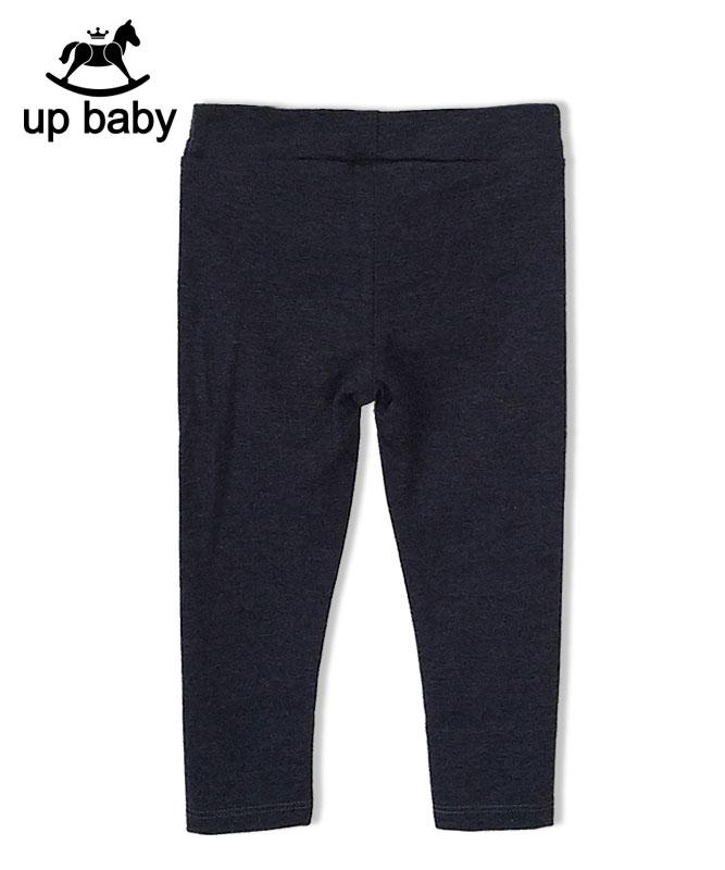 ■30%OFF■【UP BABY】女の子レギンス【9分丈・デイリー】チャコール