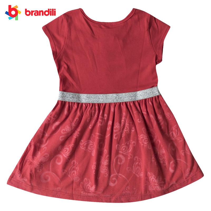 ラインストーン付き ちょうちょ柄プリンセスワンピース 女の子【BRANDILI】子供服 レッド