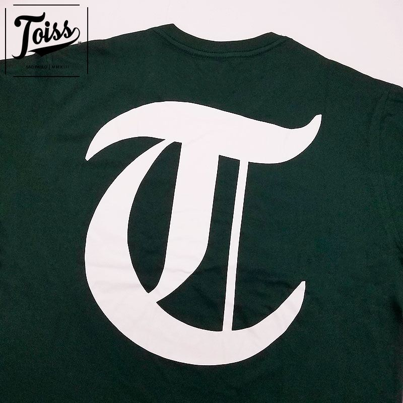 【TOISS】Tシャツ 【ネイマール愛用ブランド】Tロゴ| ダークグリーン
