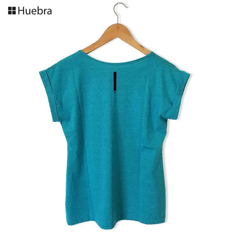 ■30%OFF■Huebraポルトガル語レディースZECATシャツ【Casal Sem Vergonha】 ブルーグリーン