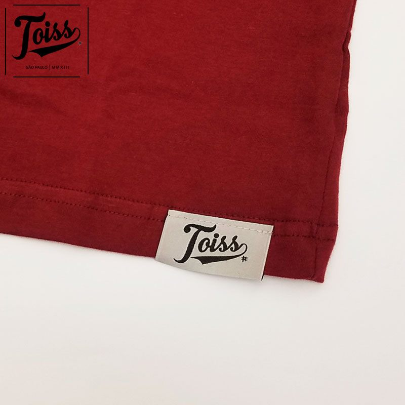 ■30%OFF■【TOISS】Tシャツ 【ネイマール愛用ブランド】Tロゴ| ボルドー